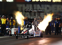 Jun 19, 2015; Bristol, TN, USA; NHRA top fuel driver Larry Dixon during qualifying for the Thunder Valley Nationals at Bristol Dragway. Mandatory Credit: Mark J. Rebilas-USA TODAY Sports