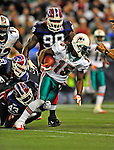 7 December 2008:  Miami Dolphins' wide receiver Davone Bess gains a first down in the second quarter against the Buffalo Bills during the first regular season NFL game ever to be played in Canada. The Dolphins defeated the Bills 16-3 at the Rogers Centre in Toronto, Ontario. ..Mandatory Photo Credit: Ed Wolfstein Photo