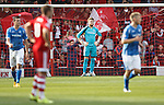 Aberdeen v St Johnstone...03.10.15   SPFL   Pittodrie, Aberdeen<br /> Zander Clark whose mistake led to Aberdeen's goal<br /> Picture by Graeme Hart.<br /> Copyright Perthshire Picture Agency<br /> Tel: 01738 623350  Mobile: 07990 594431