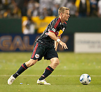 CARSON, CA – May 7, 2011: New York Red Bull defender Tim Ream (5) during the match between LA Galaxy and New York Red Bull at the Home Depot Center, May 7, 2011 in Carson, California. Final score LA Galaxy 1, New York Red Bull 1.