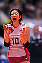 Nana Iwasaka (JPN), NOVEMBER 17,2011 - Volleyball : FIVB Women's Volleyball World Cup 2011,4th Round Tokyo(A) during match between Japan 3-2 Germany at 1st Yoyogi Gymnasium, Tokyo, Japan. (Photo by Jun Tsukida/AFLO SPORT) [0003]