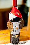 A bottle of 'Octagon' sports its most recent medals in the tasting room.  This may be Barboursville Vineyards' most prize-winning wine.