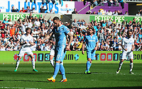 Stoke City's Marko Arnautovic looks dejected after missing a penalty<br /> <br /> Photographer Kevin Barnes/CameraSport<br /> <br /> The Premier League - Swansea City v Stoke City - Saturday 22nd April 2017 - Liberty Stadium - Swansea<br /> <br /> World Copyright &copy; 2017 CameraSport. All rights reserved. 43 Linden Ave. Countesthorpe. Leicester. England. LE8 5PG - Tel: +44 (0) 116 277 4147 - admin@camerasport.com - www.camerasport.com