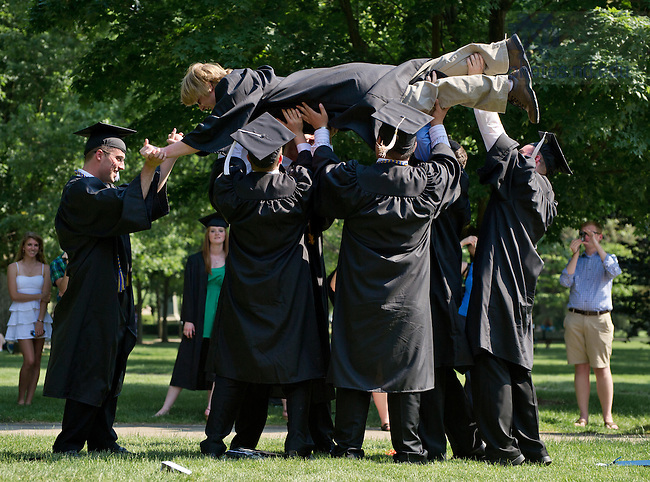 May 20, 2012; Graduates celebrate, Commencement 2012...Photo by Matt Cashore/University of Notre Dame