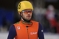 "SHORT TRACK: MOSCOW: Speed Skating Centre ""Krylatskoe"", 15-03-2015, ISU World Short Track Speed Skating Championships 2015, Semifinals 1000m Men, Sjinkie KNEGT (#148   NED), ©photo Martin de Jong"