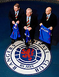 "Walter Smith answers the call and is the new ""short term"" manager of Rangers with assistants Ally McCoist and Kenny McDowall at a press conference in January 2007, installed after Paul Le Guen's departure to stabilise the club"