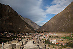 The town of Ollantaytambo Peru