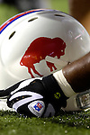8 October 2007: Buffalo Bills throwback helmet is held on the bench prior to a game against the Dallas Cowboys at Ralph Wilson Stadium in Buffalo, New York. The Cowboys defeated the Bills 25-24 for their fifth consecutive win of the season...Mandatory Photo Credit: Ed Wolfstein Photo