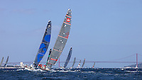 PORTUGAL, Cascais, AUDI MedCup, 15th May 2010,  Portugal Trophy, THe fleet on the coastal race.