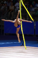 29 SEPTEMBER 2000 - SYDNEY, AUSTRALIA:<br /> ALINA KABAEVA OF Russia led field going into Sunday's all around medal final in rhythmic gymnastics with 39.691 after qualifying.
