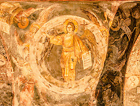 Detail of frescoes, , Holy Mother of God Peribleptos Church, Ohrid Macedonia, Built in 1295,  Soem of the finest examples of Byzantine frescoes in the world