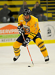29 December 2007: Quinnipiac University Bobcats' forward Eric Lampe, a Sophomore from Madison, Wisconsin, in action against the Western Michigan University Broncos at Gutterson Fieldhouse in Burlington, Vermont. The Bobcats defeated the Broncos 2-1 in the first game of the Sheraton/TD Banknorth Catamount Cup Tournament...Mandatory Photo Credit: Ed Wolfstein Photo