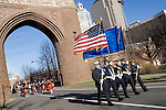HARTFORD, CT- 03 JANUARY 07- 010307JT23-<br /> The Connecticut Statewide Color Guard marches in Wednesday's parade to the Legislative Office Building in Hartford.<br /> Josalee Thrift Republican-American