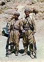 Iran 1980 .Right, Akram Agha with a peshmerga  .Iran 1980? .A droite, Akram Agha avec un peshmerga
