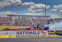 Jun 6, 2016; Epping , NH, USA; NHRA top fuel driver Doug Kalitta during the New England Nationals at New England Dragway. Mandatory Credit: Mark J. Rebilas-USA TODAY Sports