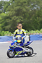 Takashi KATO, motoGP rider Daijiro KATO's father, presents the minibike 74DREAM made by DELTA ENTERPRISE..Circuit Akigase, Saitama City, Japan, on June 4th, 2004.