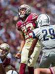Ricky Aguayo kicks an extra point in the first half of Florida State's 52-8 win over Charleston Southern in their NCAA football game at Doak Campbell Stadium in Tallahassee Florida September 10, 2016.  Aguayo kicked 7 extra points and one field goal for 10 points.