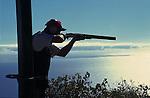 Clay pidgeon shooting,Tenerife. Canary Islands, Spain.