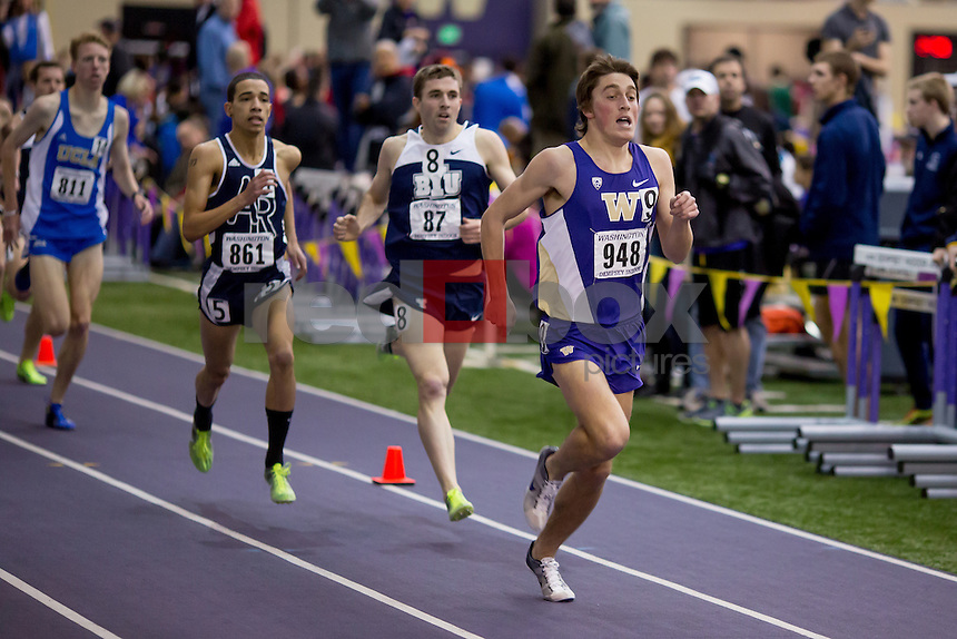 The University of Washington hosts the UW Invitational Track Meet at the Dempsey Center on the UW campus in Seattle on January 26, 2013. (Photo by Scott Eklund /Red Box Pictures)