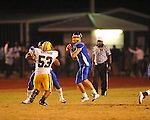 Oxford High's Parker Adamson (3) passes vs. Hernando in Oxford, Miss. on Friday, October 14, 2011. Hernando won 31-30 in overtime.