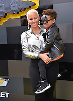 Amber Rose &amp; Son Sebastian at the world premiere of &quot;The Lego Batman Movie&quot; at the Regency Village Theatre, Westwood, Los Angeles, USA 4th February  2017<br /> Picture: Paul Smith/Featureflash/SilverHub 0208 004 5359 sales@silverhubmedia.com