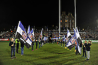 A general view of the pre-match guard of honour. European Rugby Challenge Cup match, between Bath Rugby and Cardiff Blues on December 15, 2016 at the Recreation Ground in Bath, England. Photo by: Patrick Khachfe / Onside Images