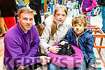 """Brendan Fleming from the Animal Roadshow  shows Emma Lynch and Tadhg Lynch from Caherleaheen. Tralee some of the Animal on show at the Manor West Shopping Centre and Retail Park  """"Family Funday"""" on Saturday"""