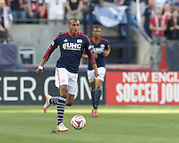 Foxborough, Massachusetts - May 11, 2014: In a Major League Soccer (MLS) match, the New England Revolution (blue/white) defeated Seattle Sounders FC (green), 5-0, at Gillette Stadium.