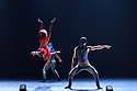 Ballet Black presents a triple bill of work at the Barbican Theatre. The piece shown is: Red Riding Hood, choreographed by Annabelle Lopez Ochoa. The dancers are: Cira Robinson (Red Riding Hood), Mthuthuzeli November (The Wolf), Jose Alves, Isabela Coracy, Sayaka Ichikawa, Damien Johnson, Marie Astrid Mence, Jacob Wye (The Company of Wolves).