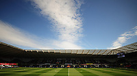 A general view of the Liberty Stadium, home of Swansea City<br /> <br /> Photographer Kevin Barnes/CameraSport<br /> <br /> The Premier League - Swansea City v Stoke City - Saturday 22nd April 2017 - Liberty Stadium - Swansea<br /> <br /> World Copyright &copy; 2017 CameraSport. All rights reserved. 43 Linden Ave. Countesthorpe. Leicester. England. LE8 5PG - Tel: +44 (0) 116 277 4147 - admin@camerasport.com - www.camerasport.com