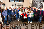 Michéal Brennan seated from Canuaig, Ballinskelligs celebrated his 66th Birthday with friends in Cable O'Leary's Bar on Sunday night.