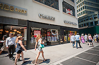 A Claire's Store in Midtown Manhattan in New York on Thursday, July 28, 2016. The retailer, owned by Apollo Global Management, is saddled with debt and is reported to need an increased cash flow during the next few months. Luckily, the back-to-school season is the chains second busiest but it will have to sell a lot of accessories to teens. The retailers owes $2.4 billion and faces bankruptcy. (© Richard B. Levine)