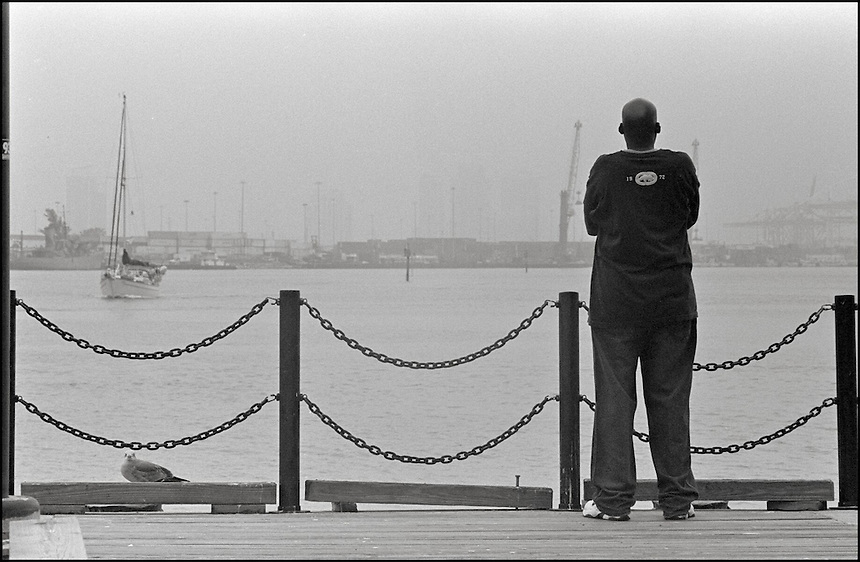 From &quot;Miami in Black and White&quot; series<br /> Bayside, Downtown Miami, FL