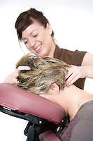 11/02/2010 Head massage stock photo for Positive Living therapy centre, Midsomer Norton, Somerset. Photo © Tim Gander 2010, all rights reserved. Tel: 07703 124412 tim@timgander.co.uk