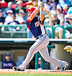 5 March 2010: Washington Nationals' third baseman Ryan Zimmerman in action during a Spring Training game against the Atlanta Braves at Champion Stadium in the ESPN Wide World of Sports Complex in Orlando, Florida. The Braves defeated the Nationals 11-8 in Grapefruit League action. Mandatory Credit: Ed Wolfstein Photo