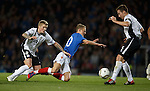 Willie Gibson and Chris Higgins rob Dean Shiels in the box