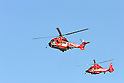 TOKYO - JANUARY 06:  Fire-fighting vessels flies over the New Year's fire review conducted by the Tokyo Fire Department at Tokyo Big Sight on January 6, 2010 in Tokyo, Japan. The annual event, featuring various demonstrations of the latest firefighting and emergency rescue techniques, aims to promote the prevention of fire and disaster. About 2,700 professional firefighters and members of community-based fire companies in Tokyo and 137 fire vehicles, helicopters and ships were mobilized for the annual demonstration. (Photo by Laurent Benchana/Nippon News)