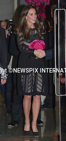 23.10.2014;London, UK: CATHERINE, DUCHESSOF CAMBRIDGE PREVIEWS BABY BUMP<br /> Kate as patron, attended the Action on Addiction Autumn Gala Evening at the L'Anima restaurant, London.<br /> Mandatory Photo Credit: &copy;Dias/NEWSPIX INTERNATIONAL<br /> <br /> **ALL FEES PAYABLE TO: &quot;NEWSPIX INTERNATIONAL&quot;**<br /> <br /> PHOTO CREDIT MANDATORY!!: NEWSPIX INTERNATIONAL(Failure to credit will incur a surcharge of 100% of reproduction fees)<br /> <br /> IMMEDIATE CONFIRMATION OF USAGE REQUIRED:<br /> Newspix International, 31 Chinnery Hill, Bishop's Stortford, ENGLAND CM23 3PS<br /> Tel:+441279 324672  ; Fax: +441279656877<br /> Mobile:  0777568 1153<br /> e-mail: info@newspixinternational.co.uk