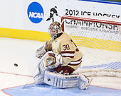Chris Venti (BC - 30) - The Boston College Eagles defeated the University of Minnesota Duluth Bulldogs 4-0 to win the NCAA Northeast Regional on Sunday, March 25, 2012, at the DCU Center in Worcester, Massachusetts.