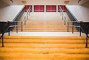 Basement steps leading up to the south entrance to Dorton Arena in Raleigh, North Carolina on Tuesday, November 25, 2014. (Justin Cook)