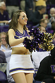 March 9, 2013:  Washington cheerleader Kaylie Gray pumped up the crowed during a timeout against UCLA.  UCLA defeated Washington 61-54 at Alaska Airlines Arena Seattle, Washington....