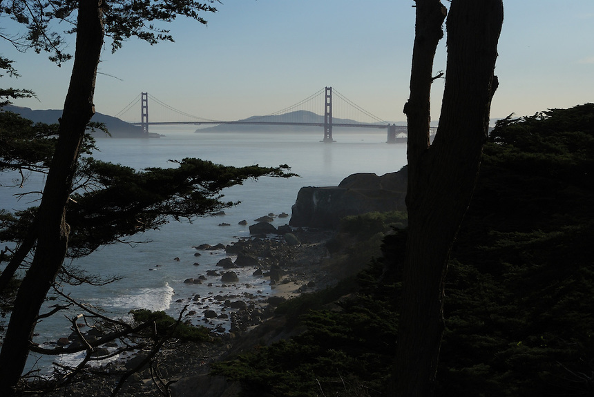 Golden Gate Bridge, from Land's End, San Francisco