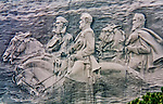 This sculpture is carved into a mountain in Stone Mountain, Georgia.