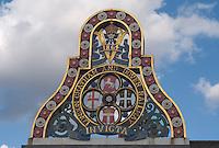 Badge on the original Blackfriars Railway Bridge, London, England