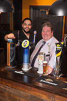 Mike Perry, Director of the newly refurbished Pear Tree pub in Keyworth (right) with Manager Luke Getten