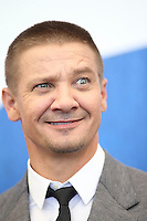 Jeremy Renner attends a press conference for 'Arrival' during the 73rd Venice Film Festival at Palazzo del Casino on September 1, 2016 in Venice, Italy.<br />