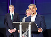 Mayor of London and London Assembly results announcement at City Hall, London, Great Britain <br /> 6th May 2016 <br /> <br /> <br /> <br /> Zac Goldsmith - Conservative<br /> <br /> Lee Harris - CISTA<br /> <br /> Sadiq Khan - Labour <br /> <br /> <br /> <br /> The winner was Sadiq Khan who is appointed the new mayor of London <br /> <br /> <br /> <br /> Photograph by Elliott Franks <br /> Image licensed to Elliott Franks Photography Services