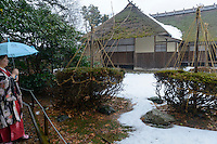 A preserved samurai residence, Murakami-city, Niigata Prefecture, Japan, February 4, 2013. The snowy city in Northern Japan is famous for hot-springs, tea and salt salmon.