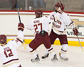 Mike Booth (BC - 12), Graham McPhee (BC - 27), Zach Walker (BC - 14) - The Boston College Eagles defeated the visiting Providence College Friars 3-1 on Friday, October 28, 2016, at Kelley Rink in Conte Forum in Chestnut Hill, Massachusetts.The Boston College Eagles defeated the visiting Providence College Friars 3-1 on Friday, October 28, 2016, at Kelley Rink in Conte Forum in Chestnut Hill, Massachusetts.