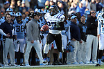 30 November 2013: Duke's DeVon Edwards returns a kickoff 99 yards for a touchdown. The University of North Carolina Tar Heels played the Duke University Blue Devils at Keenan Memorial Stadium in Chapel Hill, NC in a 2013 NCAA Division I Football game. Duke won the game 27-25.